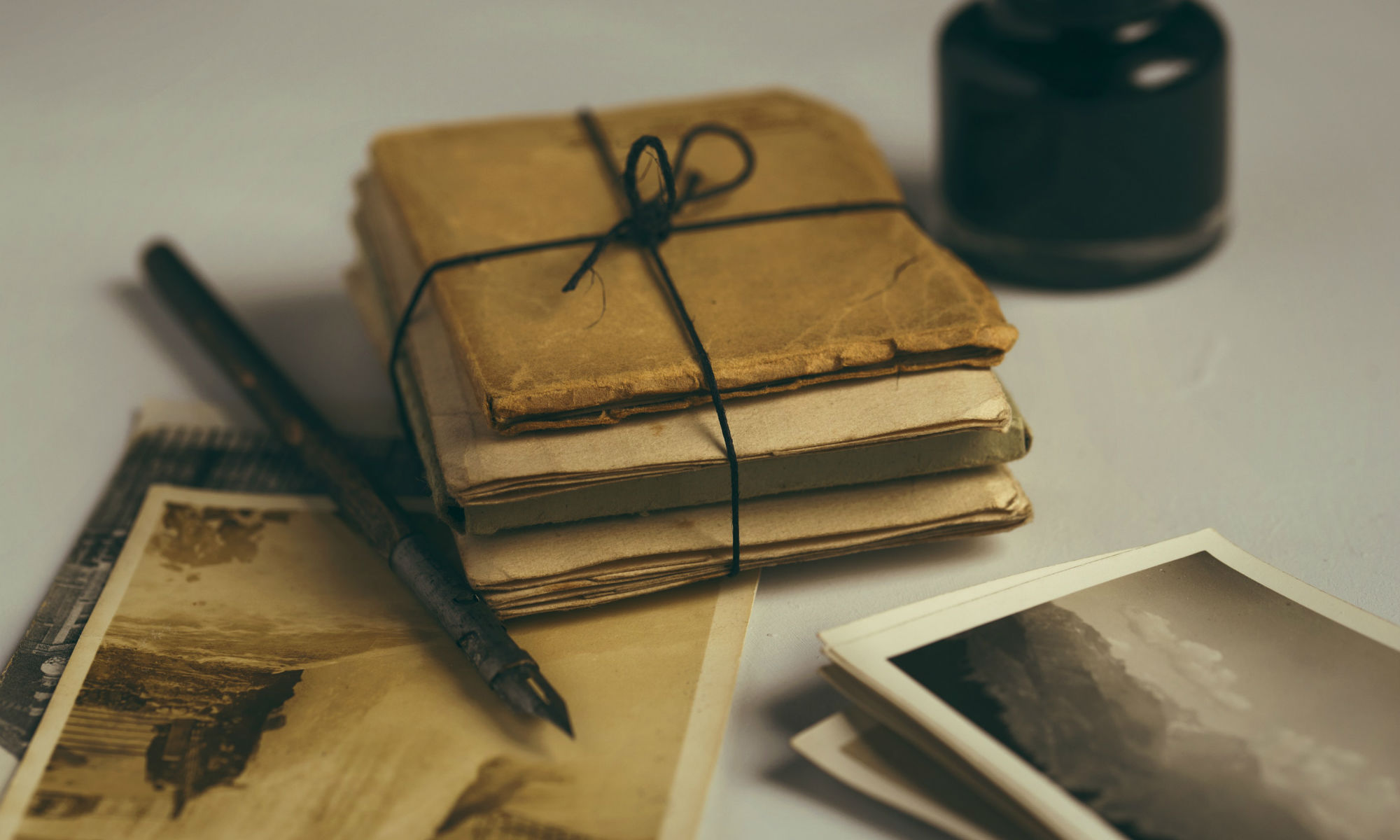 Old fashioned letters and cards